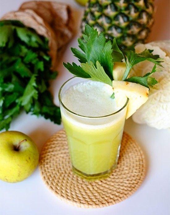 Succo di cavolo, <br>ananas e mela