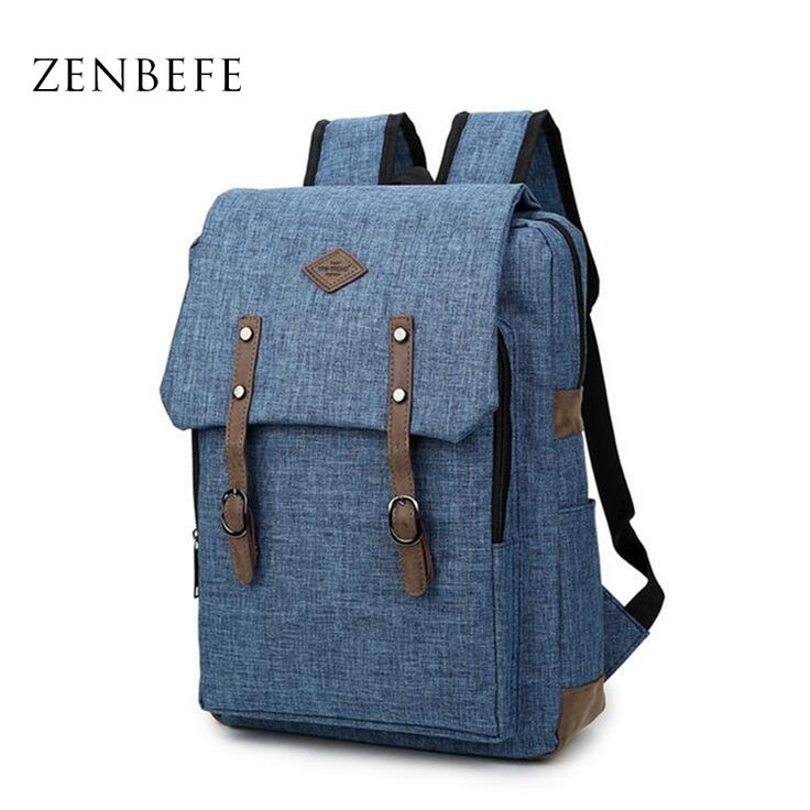ZENBEFE New Designed Backpacks For Laptop Linen Backpack School Bags For College Waterproof Backpacks Notebook Computer Bags