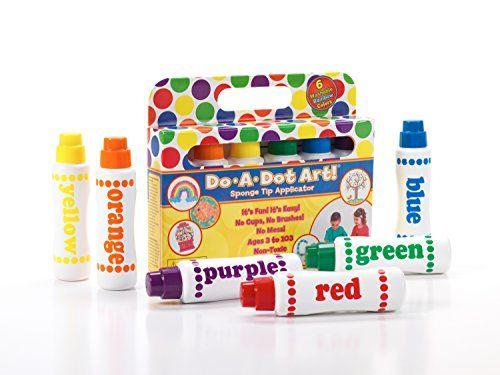 Do A Dot Art! Markers 6-Pack Rainbow Washable Paint Marke...