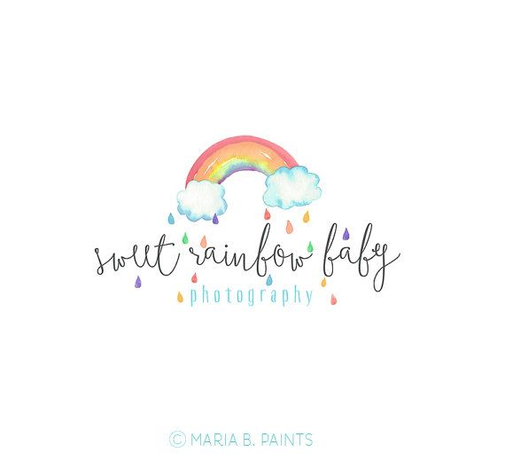 Pre made Photography Logo watercolor design by MariaBPaints