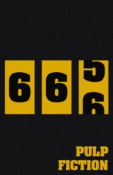 Pulp Fiction   fan art   minimal movie poster