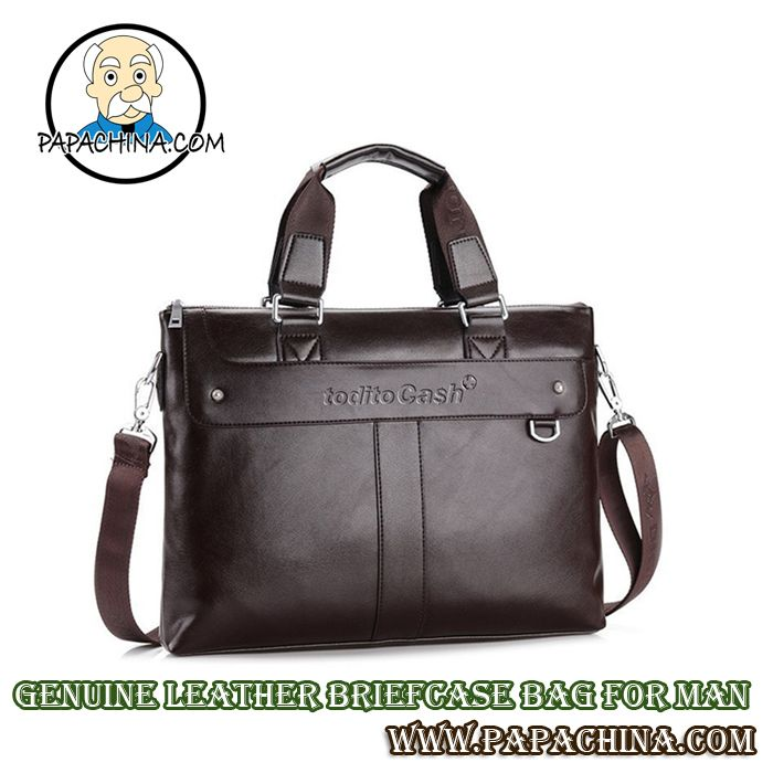 Making your direct marketing campaign successful is easier when you use a Genuine Leather Briefcase Bag for Man. Able to be used for carrying things, clients and prospects will soon find they make use of it every day and will be reminded by your imprinted company logo.