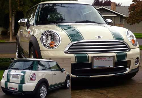 Bonnet & Boot Stripes fit any Mini Cooper Countryman Clubman