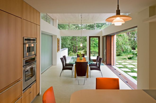 Contemporary Dining Room by Meditch Murphey Architects