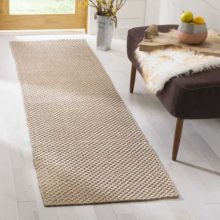 Safavieh Hand-woven South Hampton Beige Rug (2' x 6') (SHA242A-26), Size 2' x 6' (Polyester, Geometric)