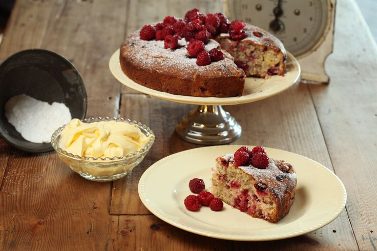 Fresh Raspberry Cake with Sangiovese Verjuice Syrup - Maggie Beer