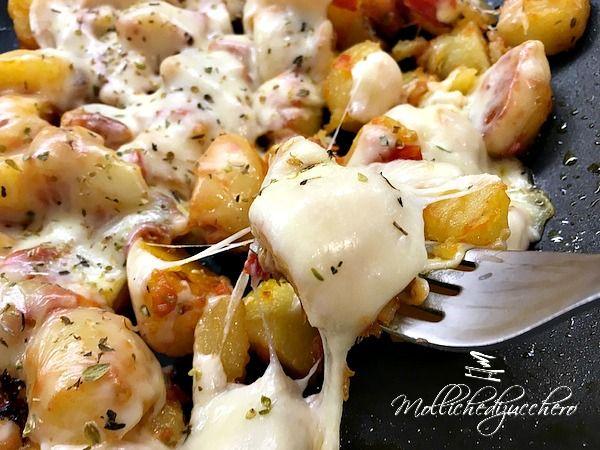 Patate filanti con pomodorini