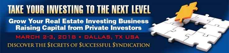 Real Estate Syndication Training - Learn How To Go Bigger