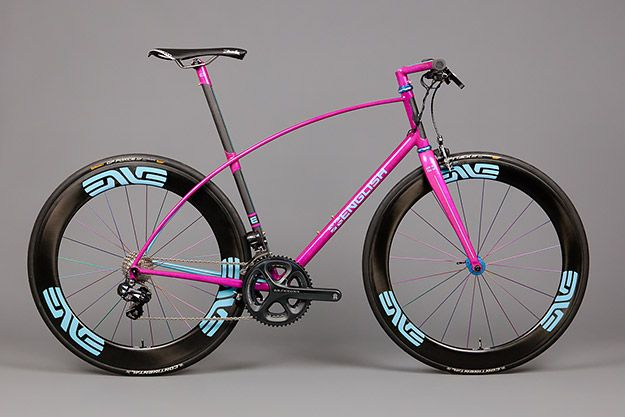 """""""Different to be different, or different for a reason – either way, why? Or, perhaps more to the point, why not?"""" (pic: Ron English custom flat bar road bike)"""