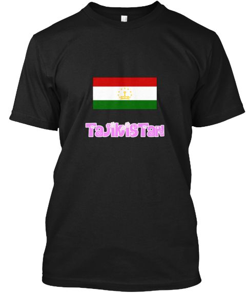 Tajikistan Flag Pink Flower Design Black T-Shirt Front - This is the perfect gift for someone who loves Tajikistan. Thank you for visiting my page (Related terms: I Heart Tajikistan,Tajikistan,Tajik,Tajikistan Travel,I Love My Country,Tajikistan Flag, Tajikistan  #Tajikistan, #Tajikistanshirts...)