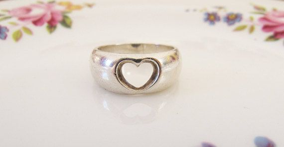 Vintage Georg Jensen Sterling Silver Heart Ring Kim Naver