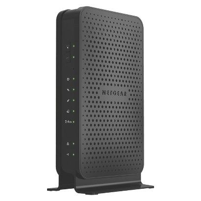 NetGear N300 WiFi Cable Modem Router - Black (C3000-100NAS)