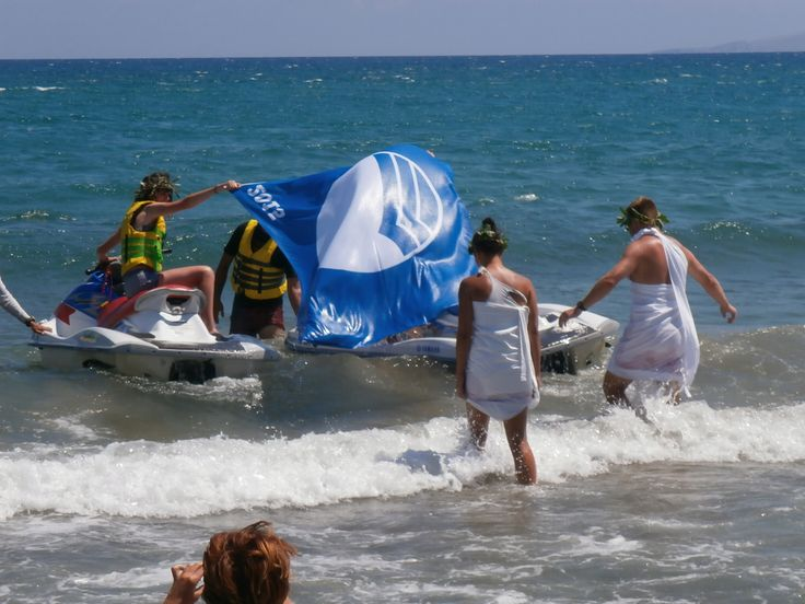 Receiving the Blue Flag 2015 by Zeus and Aphrodite