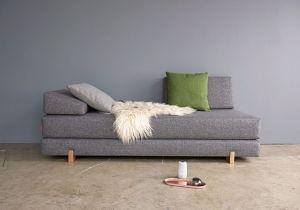 Myk Sovesofa Innovation.Myk daybed-sovesofa er en smart løsning for deg som ønsker en enkel løsning. Bygger kun 80cm når den er som sofa. Billig hjemlevering.