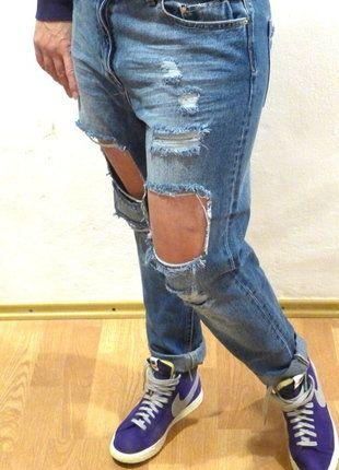 Kupuj mé předměty na #vinted http://www.vinted.cz/damske-obleceni/dziny/15361275-stylove-ripped-jeans-stradivarius-strih-mom-fit