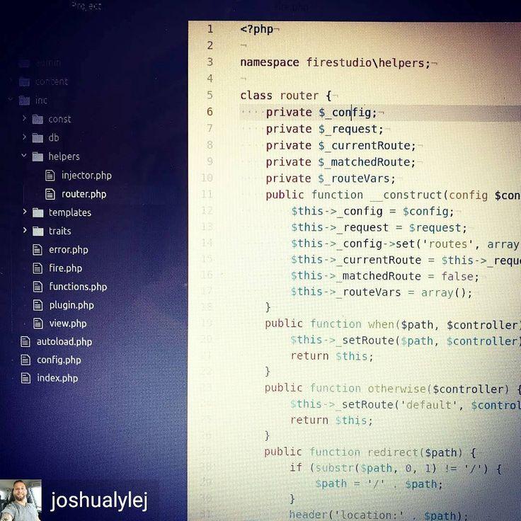 "by @joshualylej: ""Building a classic MVC Router Class for FireStudio (a secret app I'm working on)"" // #software #design #development #programmer #developer #softwaredeveloper #uidesigner #webdesign #programming #javascript #mvc #atomio #coding #html #css #ui #ux #uxdesign #uxdesigner #frontenddeveloper #backenddeveloper #fullstackdeveloper #geek #technology #webdev #coder"