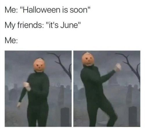 Spooky Scary Skeletons pumpkin head man Halloween meme