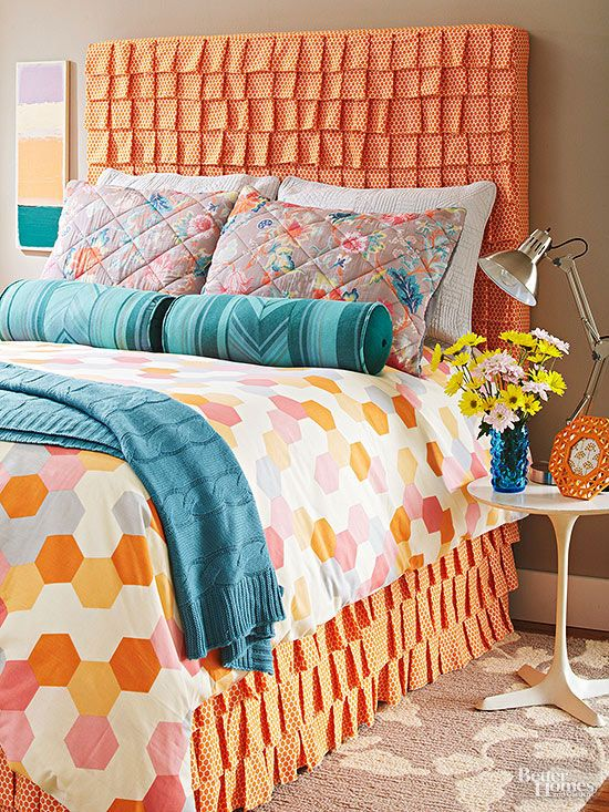 Diy Ruffled Fabric Headboard Diy Headboards Headboard Ideas And Ruffles