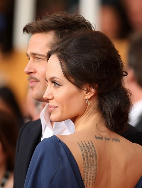 Angelina Jolie Back Tattoo 3