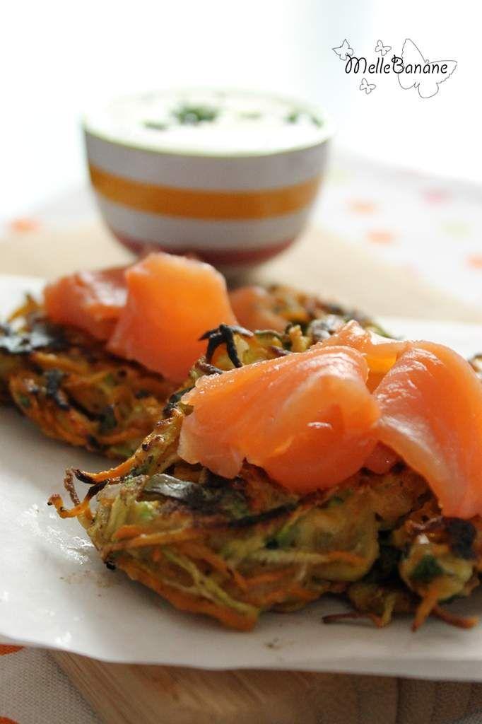 Röstis de légumes au saumon fumé