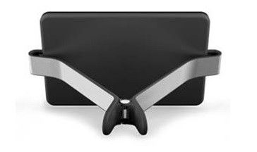 Felix TwoHands II for Tablets up to 10.5 Inch - Black - TwoHands hangs on tight to your iPad, tablet, or eReader. It's design allows you to perfectly position the angle for your device, while its slim profile easily fits into your bag for ultimate portability. Use it on any level surface (even some uneven ones) and enjoy. #Felix #Atlantia