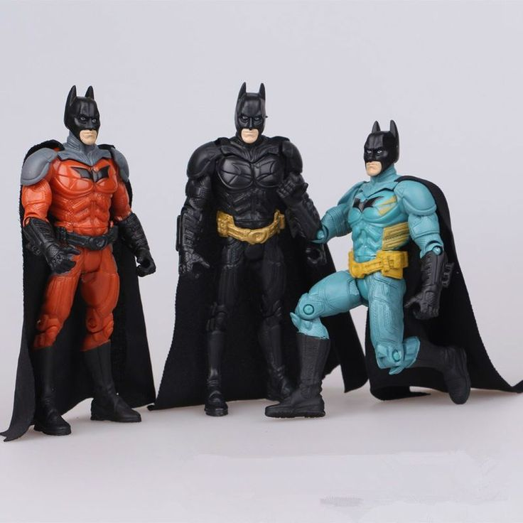 3pcs/lot Batman Action figures toys pvc Model Dolls for kids Best Gift Movable articulation