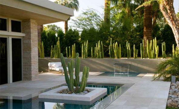 Gartendesign  Modernes Gartendesign - Kakteenanlage am Pool | Garden Design ...
