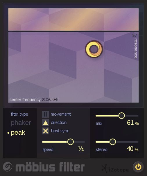 "iZotope has announced the release of Mobius Filter, a new effect plug-in that ""creates the sensation of infinite movement."" Based on the auditory illusion of the Shepard Tone, the filte…"