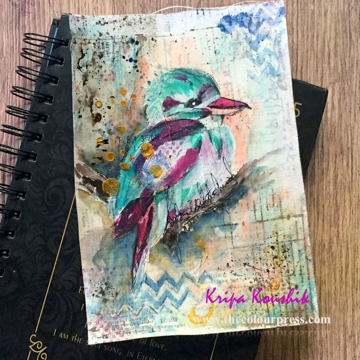An art journal page - Freedom is a state of mind