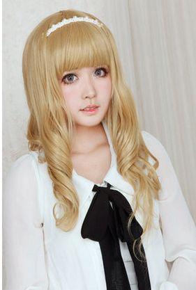 Lolita Curl K-ON Cosplay Gold Wig SP152569 - SpreePicky - 5