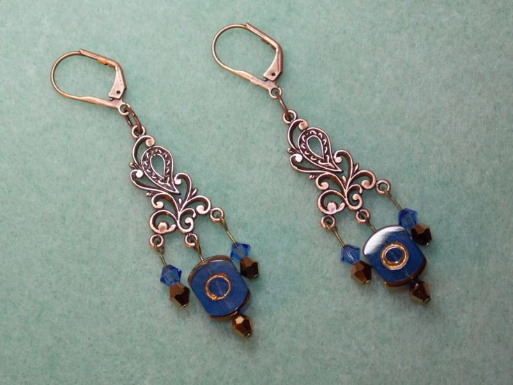 Cobalt 'n Copper - Jewelry creation by Terrie