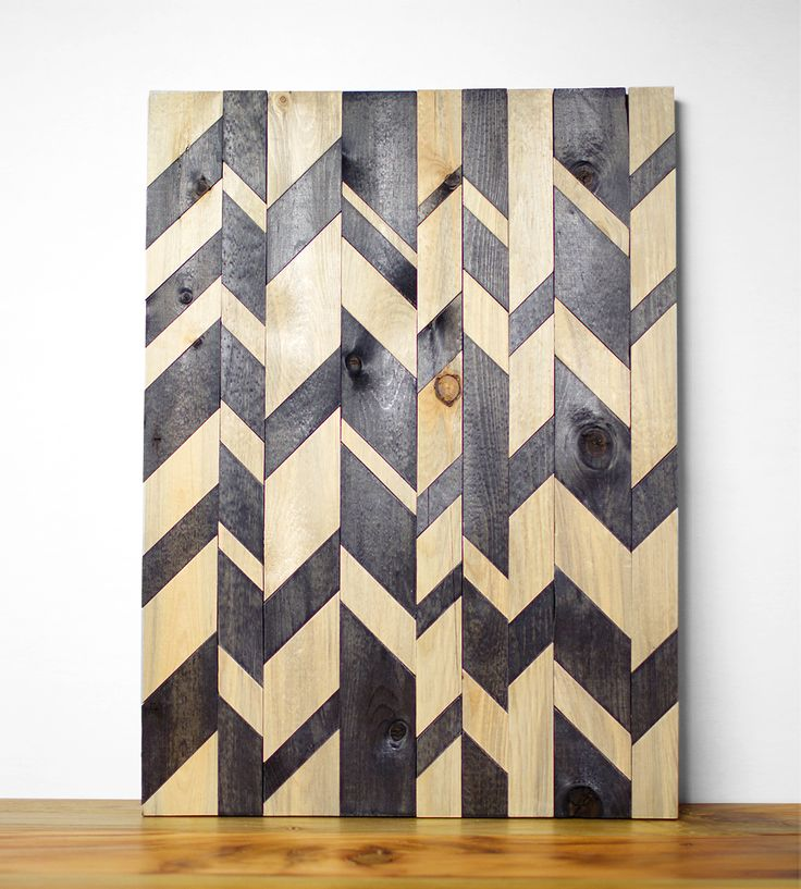 broken chevron wood wall art