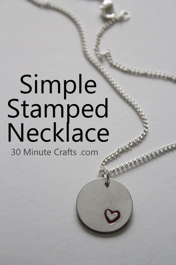 202 best stamping images on pinterest hand stamped metal hand simple stamped necklace initials on smaller pendants mozeypictures Gallery