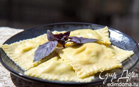 Равиоли с рикоттой и шпинатом (тесто от Джейми Оливера) | Кулинарные рецепты от «Едим дома!»
