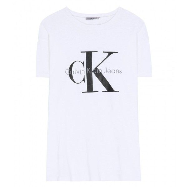 Calvin Klein Jeans Cotton-Blend Boyfriend T-Shirt (155 CAD) ❤ liked on Polyvore featuring tops, t-shirts, shirts, harry, calvin klein, no, white t shirt, boyfriend tee, white boyfriend shirt and white shirt