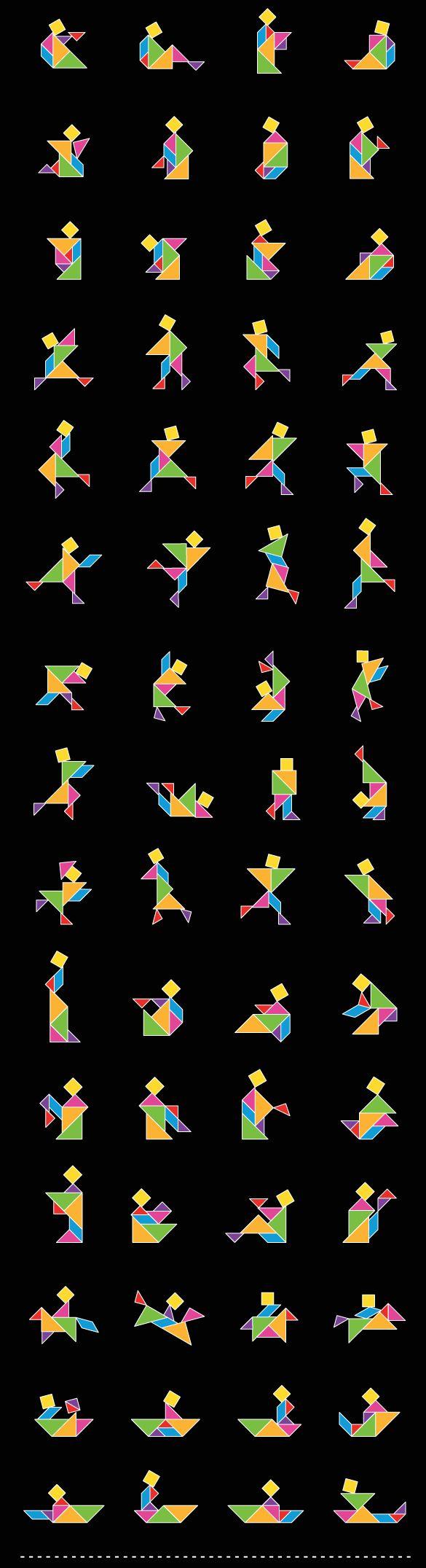 Walls360 Blog » Wall Tangrams: Shapes Guide I (Multi-Color)