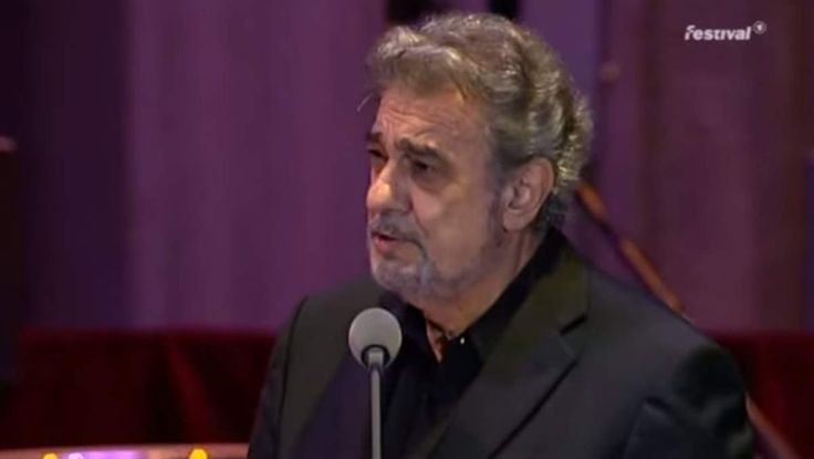 Spanish tenor Plácido Domingo sings Bésame Mucho (English: Kiss me a lot), a song written in 1940 by Mexican songwriter Consuelo Velázquez.