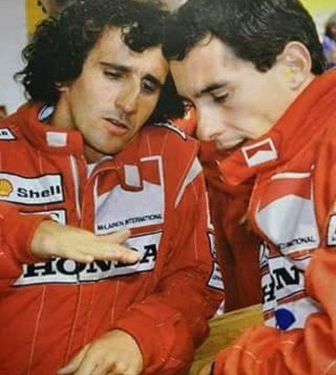 Alain Prost and Ayrton Senna