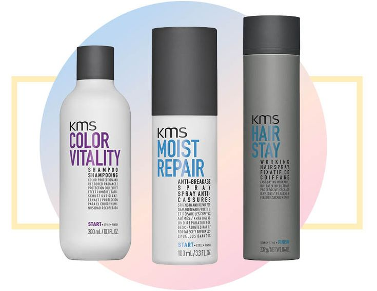 Coloured hair requires extra care. Be gentle and still get results with this power trio: KMS ColorVitality Shampoo, $21, Moistrepair Anti-Breakage Spray, $23, Hairstay Working Spray, $23, kmshair.com