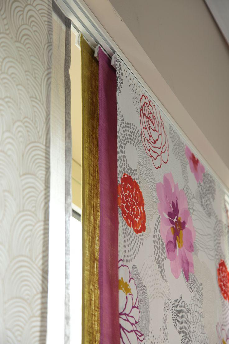 good tissus pour panneaux japonais 2 panneaux japonais coloris. Black Bedroom Furniture Sets. Home Design Ideas
