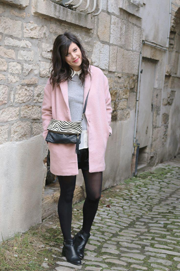 Mon manteau rose poudré | La Bulle de Lise