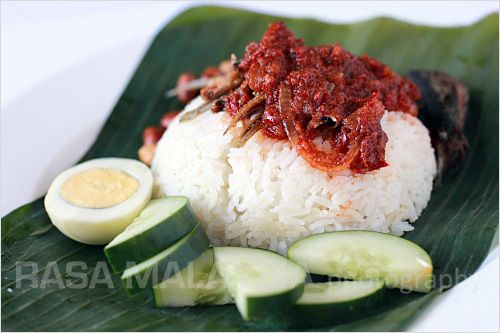 Nasi Lemak Recipe (Malaysian Coconut Milk Rice with Anchovies Sambal) | Easy Asian Recipes at RasaMalaysia.com