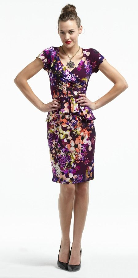 Simone Dress with Peplum. Only at Plum!