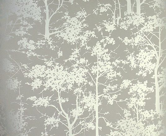 Mandara Wallpaper Beige Wallpaper With A Forest Of Silver Trees Osborne And Little