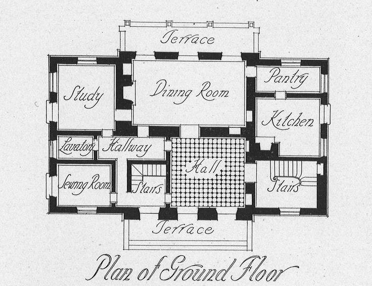 Le Pavillon De Madame Verailles Mansion Floor Plan Vintage House Plans House Floor Plans