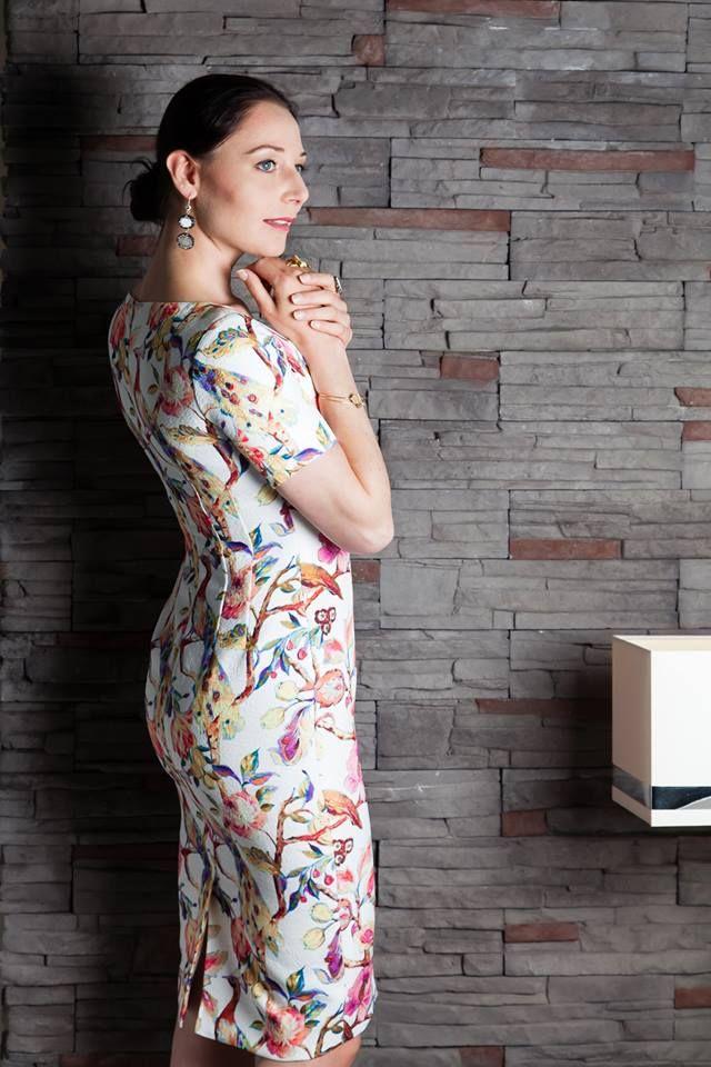 Floral Dress Tubino & Jewelery Ana Dyla