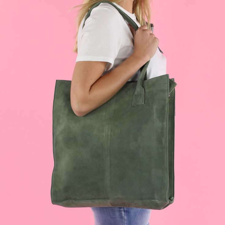 NEW BAG!  #fashion #webshop #outfit #style #leather #bag #suede #cool #photography #ootd #style #armygreen #product #model #lookbook