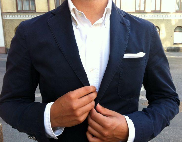 Dappertastic: Light Pink Blazers, Navy Blazers, Shirts Style, White Pockets, Blazers Cut, Blue Blazers, Pockets Squares, Pocket Squares, Crisp White Shirts