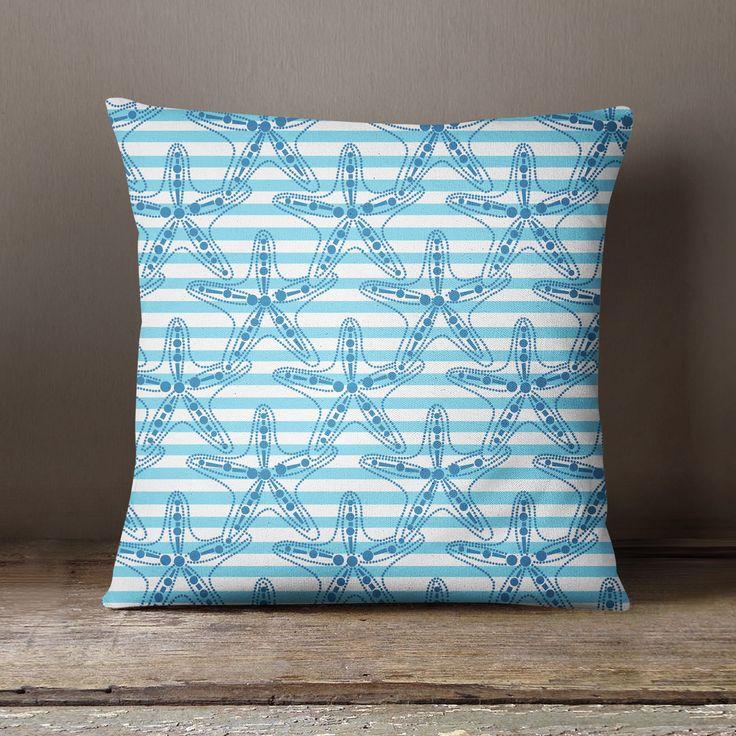 S4Sassy Mediterranean Style Ocean Star Fish Cushion Cover Square Pillow Throw