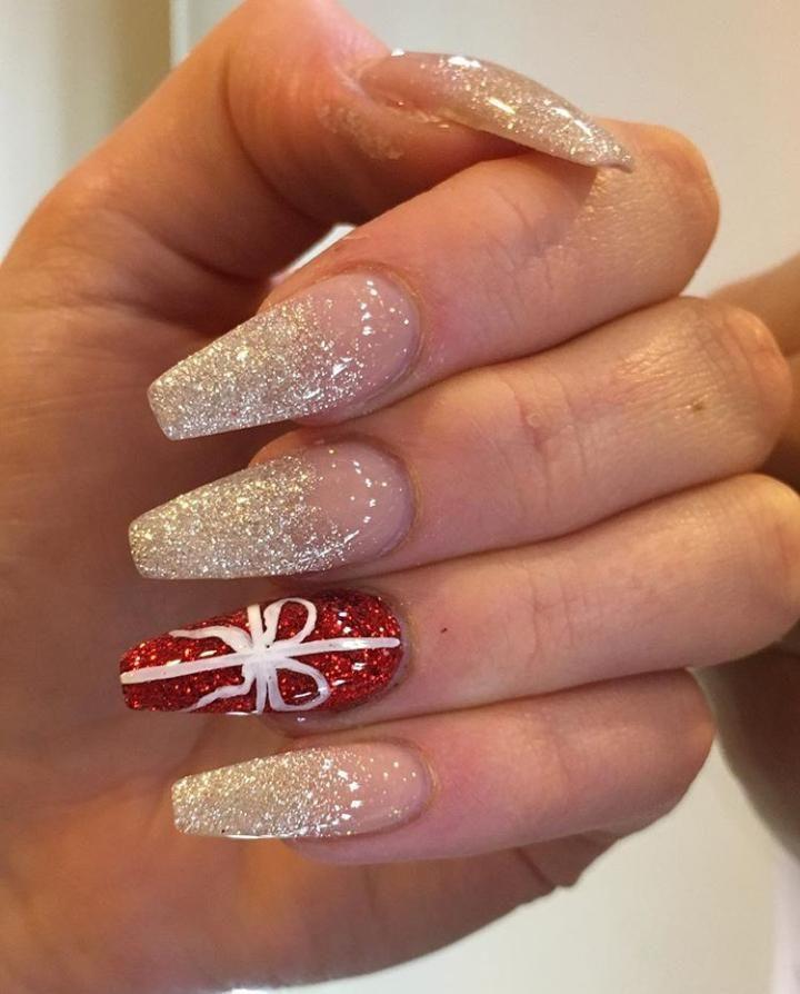 80 Most Epic Nail Art Ideas Ever For Coffin Shaped Nails Xmas Nails Christmas Nail Art Designs Cute Christmas Nails